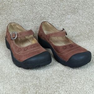 Keen Calistoga Nubuck Leather Mary Jane Shoes
